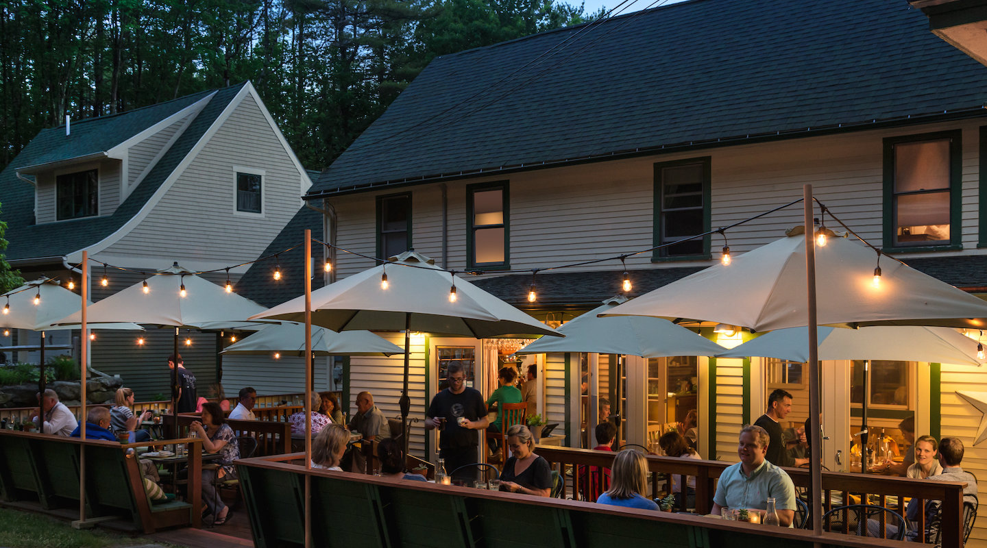 The best outside dining at our restaurant in Holderness, NH