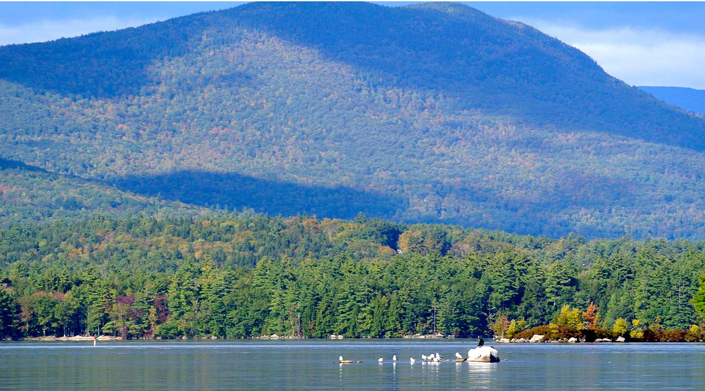 Stunning views of the New Hampshire Lakes Region
